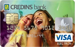 credins bank visa electron