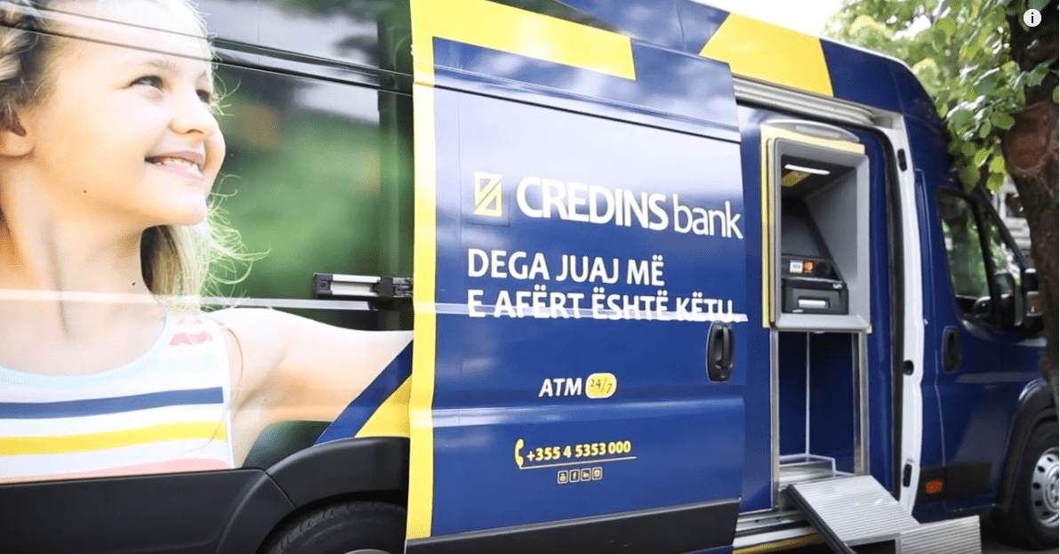 Banka lëvizëse nga Credins Bank në Korçë